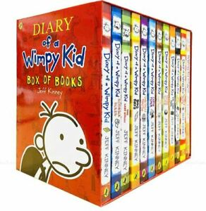 Diary of a Wimpy Kid Collection Jeff Kinney 12 Books Box Set (New)