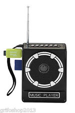 RADIO STEREO PORTATILE LETTORE MP3 FM SD CARD USB