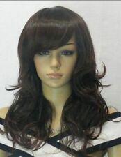 Noble Dark Brown Curly Long Women's Wig+Hairnet