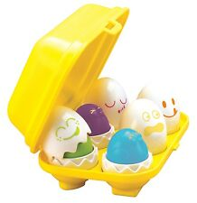 Tomy Play to Learn Hide N Squeak Eggs Baby's Toddler Early Skills Toy - T1581