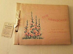 "Vintage Baby Album - Journal ""Our Grandchild"" 1940's Unused With Original Box"