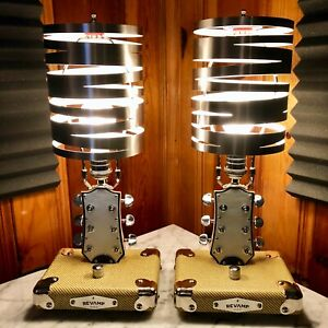 Guitar Lamps Pair Guitar Lamp Desk Top/Table Top Version Handmade