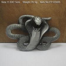 Zinc Alloy Cobra Belt Buckle for Men Animal Series Creative Belt Buckles