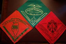 BSA Vintage U.S. GRANT GALENA IL PILGRIMAGE 3 NECKERCHIEFS 1968,69,70  SCOUTS NM