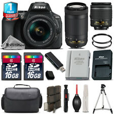 Nikon D5600 DSLR Camera + 18-55mm VR + 70-300mm + Extra Battery + 1yr Warranty