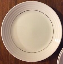 "Set of 8 - Salad / Dessert Plates - Gibson Everyday China - White - 7.5"" Diam."