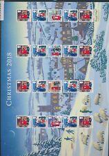 XC95212 Great Britain 2018 1st class christmas holidays XXL sheet MNH