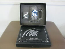 NY Yankees Limited Edition Fine Pewter Collectible Boilermaker set