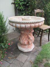 Large concrete water feature bird bath pedestal garden pot planter statue