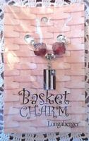 Longaberger Basket Tie On Americana Flag Charm Red Beads New In Pack