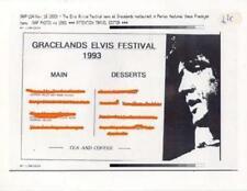Elvis Presley Gracelands Festival Menu Photo 1993