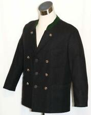BLACK WOOL JACKET Women WINTER Hunting AUSTRIA SPORT Over Coat 12 14 L B44""
