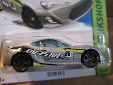 HOTWHEELS SILVER SCION FR-S CAR SCALE 1/64 ON LONG CARD