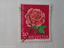 SUISSE SCHWEIZ, 1964, timbre 740, FLEURS, ROSE, FLORE, FLOWERS, oblitéré