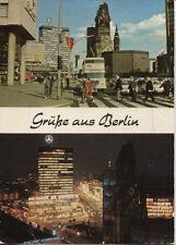 Alte Postkarte - Grüße aus Berlin - bei Tag und Nacht