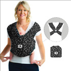 Baby K'tan Print Baby Carrier - Sweetheart Black - Small