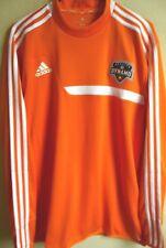 MLS Adidas Houston Dynamo Soccer Long Sleeve Mock Training Pullover L NWT 3726A