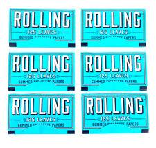 Rolling Gummed Cigarette Papers - 6 Packs Booklets- 125 Leaves Per Pack - New