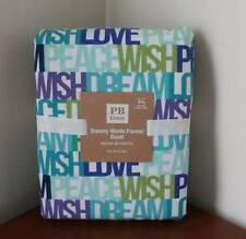 Pottery Barn PB Teen Dreamy Words Flannel Duvet Cover Full/Queen NEW