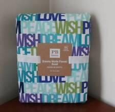 Pottery Barn PB Teen Dreamy Words Flannel Duvet Cover Full/Queen NEW
