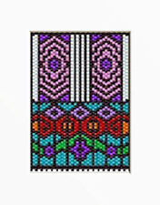 Floral Stainglass Beaded Banner Pattern