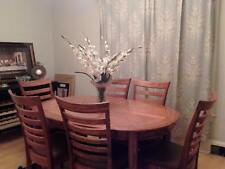 dining table with 6 chairs solid oak