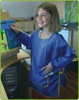 Kinder MALSCHÜRZE MALKITTEL BASTELSCHÜRZE mit Klettverschluß TOP QUALITÄT  83-98