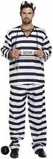 Adult Mens Prisoner Convict Fancy Dress Costume Stag Do Party Overalls Jumpsuit