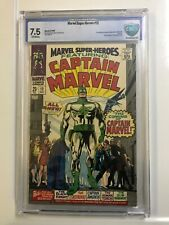 MARVEL SUPER HEROES 12 CBCS - LIKE CGC 7.5 VF- 1967 OFF-WHITE  IST CAPT. MARVEL