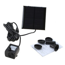 New listing Solar Water Pump Power Panel Kit Fountain Pool Garden Pond Submersible Watering
