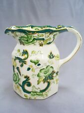 LOVELY VINTAGE MASONS IRONSTONE GREEN CHARTREUSE FENTON 5.5 in JUG/PITCHER