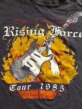 Yngwie J. Malmsteen Concert Shirt 1985 Rising Force Ac/Dc Iron Maiden Saxon cd