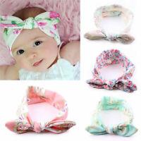4 Stück Baby Kinder Stirnband KNOTEN Schleife Haarband Gut Mädchen Haarschm V2J4