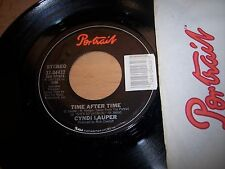 "NM 1983 Cyndi Lauper Time After Time / I'll Kiss You 7"" 45RPM w/ppr slv"