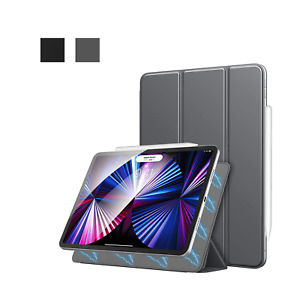 For New iPad Pro 11 Inch 2021 Slim Trifold Stand Magnetic Case PU Leather Cover