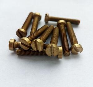 M6 10mm-40mm brass bolts cylindrical head screws one slot screw column bolt