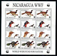 Nicaragua  MNH Birds 1994 Highland Guan Penelopina nigra, Sheet WWF. x16381