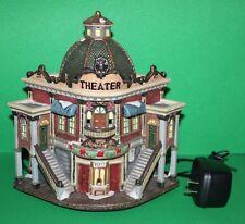 Grandeur Noel Christmas Victorian Village Lighted Theater Building w/ Cord
