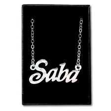 White Gold Plated Name Necklace - SABA - Gift Idea For Her - Engagment Muslim