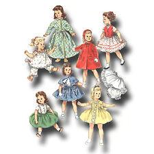 "Vtg 1950s Doll Wardrobe Dress Pattern 21"" 22"" Sweet Sue, Miss Revlon, Toni"