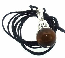 Tigers Eye Gemstone Round Costume Necklaces & Pendants