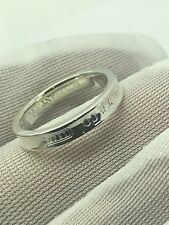Tiffany & Co. 1837 Collection  Silver Concave Narrow Band Ring Sz 5.25