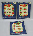 3 Vtg Meyercord Decals Retro 50s 40s Floral Flowers Roses Walls Furniture NOS