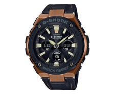 Casio G-Shock Men's 59mm GSTS120L-1A Leather Watch - Black
