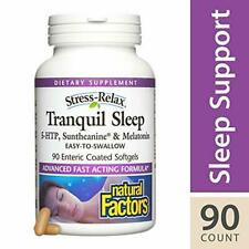 Stress-Relax Tranquil Sleep by Natural Factors, Sleep Aid with Suntheanine L-The