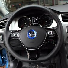AUTO ACCESSORIES Car Steering Wheel Center Blue Decoration Ring For Volkswagen