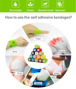 1Pc Waterproof Medical Self Adhesive Elastic Bandage Muscle Tape Finger Joints