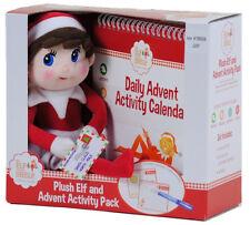 The Elf On The Shelf Daily Advent Activity Calendar and Elf Plush Girl Gift Box