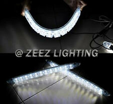 Silicone Gel With Projector Lens 12 LED Daytime Running Light DRL Lamp Kit C07