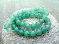 Round Green Aventurine Beads - Genuine Grade A - 8 mm - 1 mm Hole - Full Strand